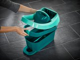 Набор ведро с прессом для отжима на роликах и швабра, микрофибра Profi XL Leifheit 55096