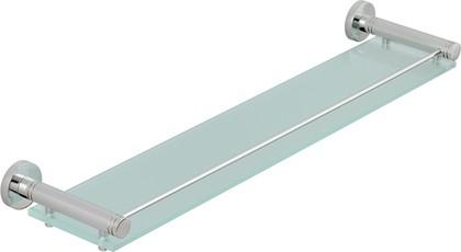 Полка стеклянная с ограничителем L600 хром Сунержа Каньон 00-3004-0600