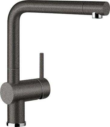 Смеситель кухонный однорычажный с высоким выдвижным изливом, SILGRANIT антрацит Blanco LINUS-S 516688