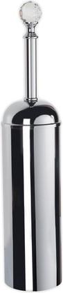Ёрш для туалета напольный, хром с кристаллом swarovski TW Crystal TWCR020cr-sw