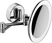 Зеркало косметическое Colombo Complementi, настенное, LED-подсветка, хром B9751