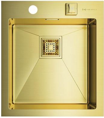 Кухонная мойка без крыла, нержавеющая сталь, золото Omoikiri Akisame 41-LG 4993080