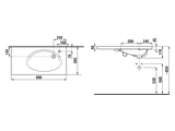 Накладная раковина 800x385 мм, белая Jika Tigo 122180001061