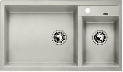 Кухонная мойка основная чаша слева, без крыла, гранит, жемчужный Blanco METRA 9 520586