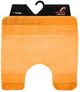 Коврик для туалета 55x55см оранжевый Spirella Balance 1009223