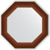 Зеркало Evoform Octagon 524x524 в багетной раме 65мм, орех BY 3727