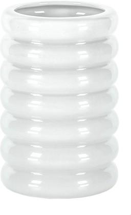 Стакан для зубных щёток керамика, белый 7.4x7.4x11.2см Kleine Wolke Lipsy 5801100852