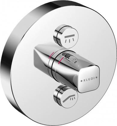Термостат для душа встраиваемый на 2 источника, верхняя часть с механизмом, хром Kludi PUSH 386120538
