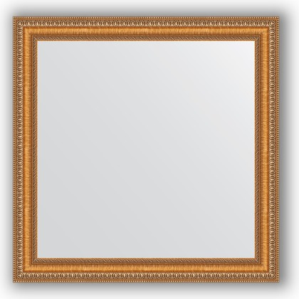 Зеркало в багетной раме 65x65см золотые бусы на бронзе 60мм Evoform BY 3138