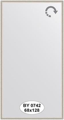 Зеркало 68x128см в багетной раме витое серебро Evoform BY 0742