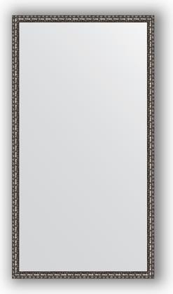 Зеркало 70x130см в багетной раме чернёное серебро Evoform BY 1093