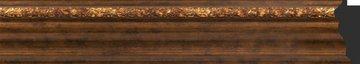 Зеркало с фацетом в багетной раме 56x86см римская бронза 88мм Evoform BY 3413