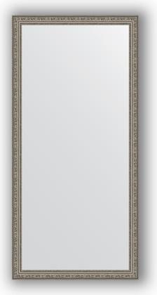 Зеркало в багетной раме 74x154см виньетка состаренное серебро 56мм Evoform BY 3328