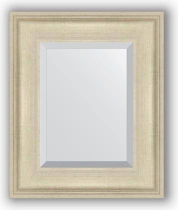 Зеркало 48x58см с фацетом 30мм в багетной раме травлёное серебро Evoform BY 1368