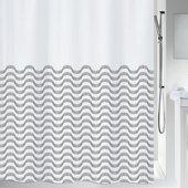 Штора для ванной Spirella Vagues, 180x200см, текстиль, бело-чёрный 1020160