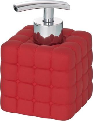 Ёмкость для жидкого мыла с дозатором красная Wenko CUBE 20086100