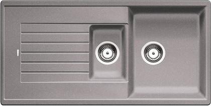 Кухонная мойка оборачиваемая с крылом, гранит, алюметаллик Blanco Zia 6 S 514741