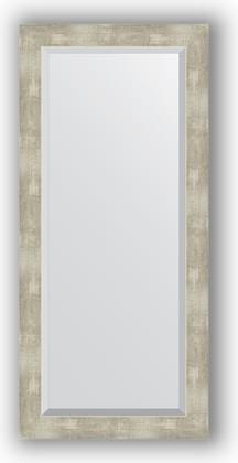 Зеркало 51x111см с фацетом 30мм в багетной раме алюминий Evoform BY 1149