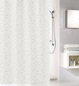 Шторка для ванной Kleine Wolke Style Silbergrau 180x200см, 100% полиэстер 5939146305