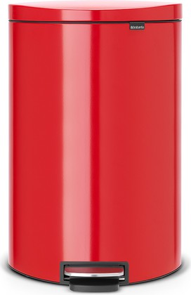 Мусорный бак 40л, пламенно-красный Brabantia FlatBack+ 485220