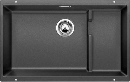 Кухонная мойка без крыла, с клапаном-автоматом, гранит, антрацит Blanco Subline 700-U Level 518390
