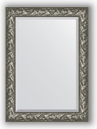 Зеркало с фацетом в багетной раме 79x109см византия серебро 99мм Evoform BY 3468