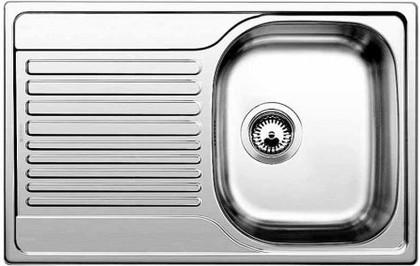 """Кухонная мойка оборачиваемая с крылом, нержавеющая сталь """"декор"""" Blanco Tipo 45 S Compact 513675"""