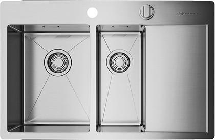 Кухонная мойка с правым крылом, нержавеющая сталь Omoikiri Kirisame 78-2-IN-L 4993062