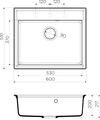 Кухонная мойка Omoikiri Daisen 60-BL, искусственный гранит, чёрный 4993622