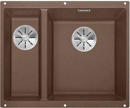 Кухонная мойка Blanco Subline 340/160-U, без крыла, основная чаша справа, отводная арматура, гранит, мускат 523566