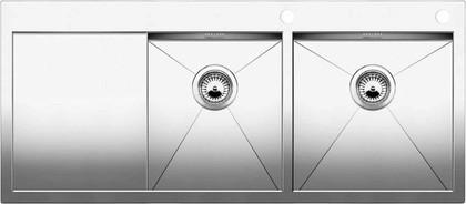 Кухонная мойка чаши справа, крыло слева, с клапаном-автоматом, нержавеющая сталь зеркальной полировки Blanco Zerox 8 S-IF/A 513706