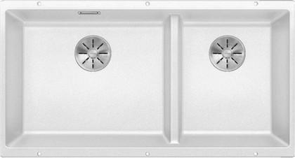 Кухонная мойка Blanco Subline 480/320-U, отводная арматура, белый 523588