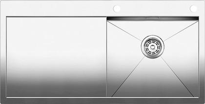 Кухонная мойка чаша справа, крыло слева, с клапаном-автоматом, нержавеющая сталь зеркальной полировки Blanco Zerox 5 S-IF/A 514005