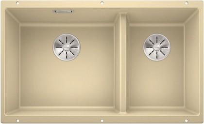 Кухонная мойка Blanco Subline 430/270-U, отводная арматура, шампань 523157