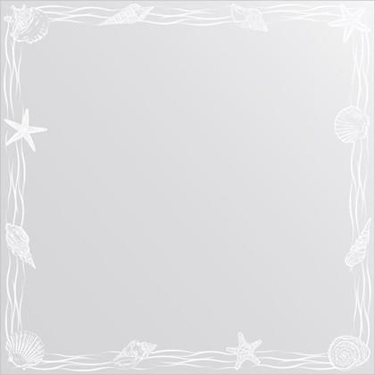 Зеркало для ванной с орнаментом 70x70см FBS CZ 0769