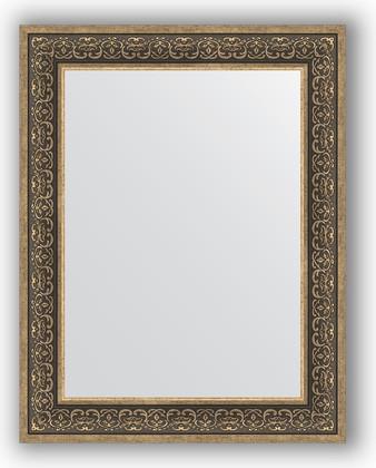 Зеркало в багетной раме 73x93см вензель серебряный 101мм Evoform BY 3192
