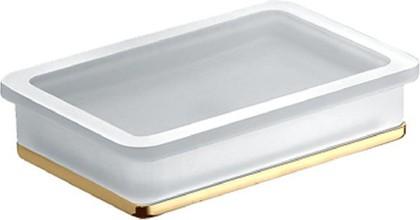 Мыльница настольная стеклянная в металлическом корпусе, золото Colombo Lulu B6240.gold