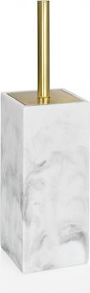 Ёршик туалетный Andrea House White Marble and Brass BA68125