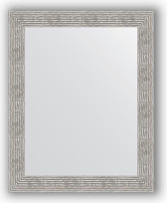 Зеркало в багетной раме 80x100см волна хром 90мм Evoform BY 3281