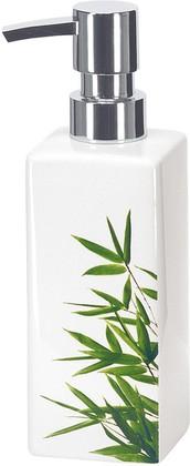 Ёмкость для жидкого мыла большая керамическая белая Kleine Wolke Flash Bamboo 5091625854