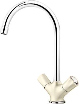 Классический кухонный вентильный смеситель с высоким изливом, хром / жасмин Blanco AMONA 520773