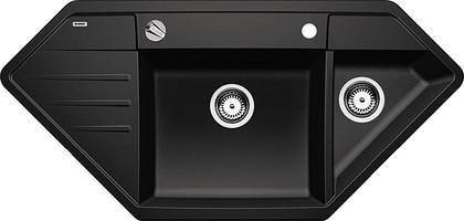 Кухонная мойка крыло слева, с клапаном-автоматом, гранит, антрацит Blanco Lexa 9 E 515104
