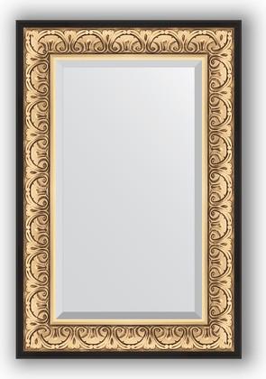 Зеркало 60x90см с фацетом 30мм в багетной раме барокко золото Evoform BY 1241