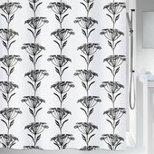 Штора для ванной Spirella Naturesign, 180x200см, текстиль, бело-чёрный 1020159