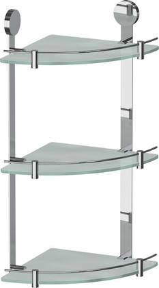 Полка для ванной стеклянная угловая тройная 24см ArtWelle HAR 041