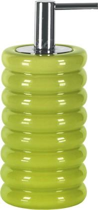 Ёмкость для жидкого мыла керамическая зелёная Kleine Wolke LIPSY 5801625854