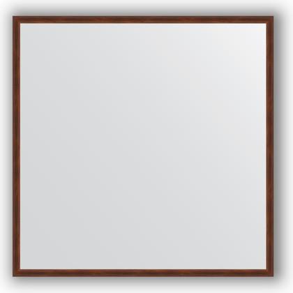 Зеркало 68x68см в багетной раме орех Evoform BY 0654