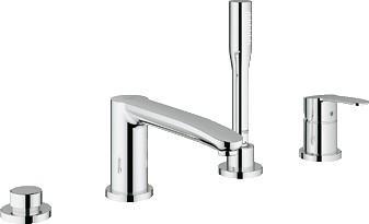 Смеситель встраиваемый вентильный на 4 отверстия на бортик ванны без встраиваемого механизма, хром Grohe EUROSTYLE Cosmopolitan 23048002