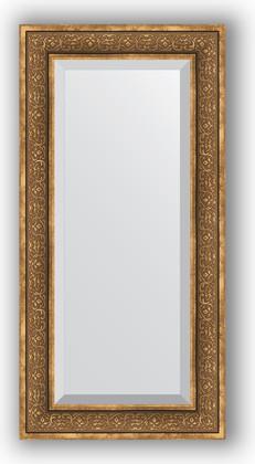 Зеркало с фацетом в багетной раме 59x119см вензель бронзовый 101мм Evoform BY 3500