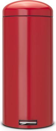 Мусорный бак 30л с педалью, MotionControl, красный Brabantia Retro 483820